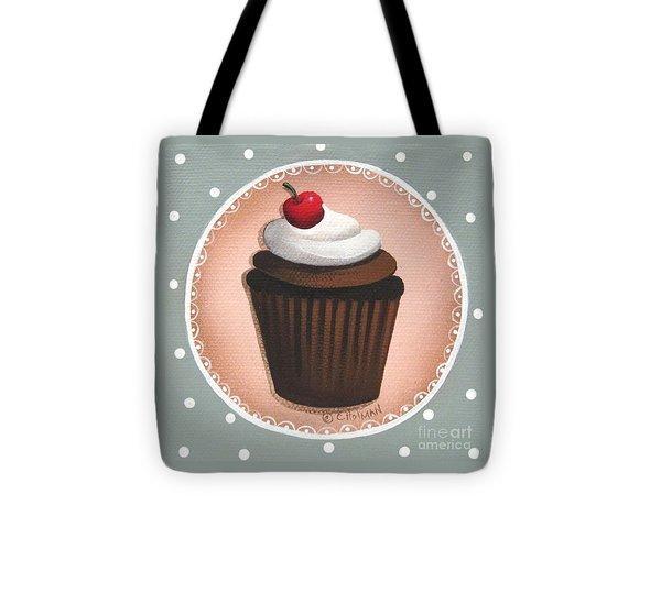 Chocolate Cherry Chip Cupcake Tote Bag by Catherine Holman