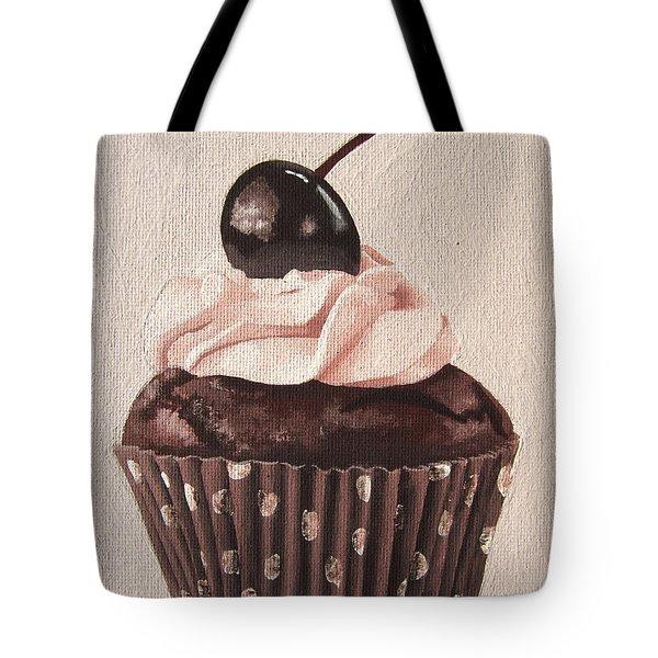 Chocolate Cherry Cupcake Tote Bag by Kayleigh Semeniuk
