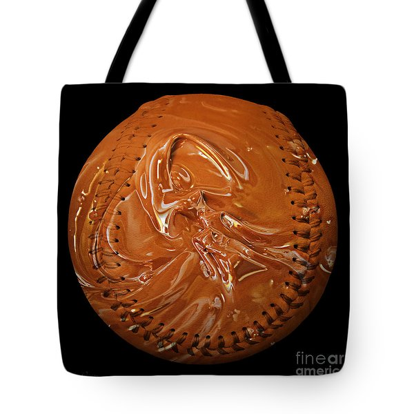 Chocolate Dipped Baseball Square Tote Bag by Andee Design