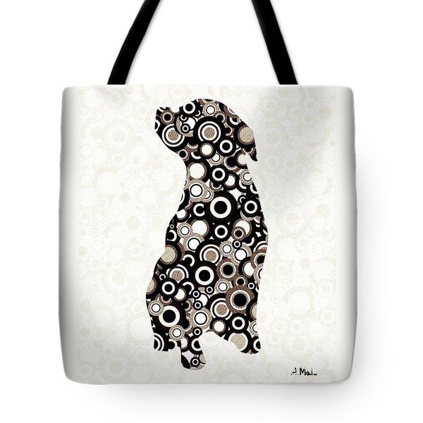 Chocolate Lab - Animal Art Tote Bag by Anastasiya Malakhova