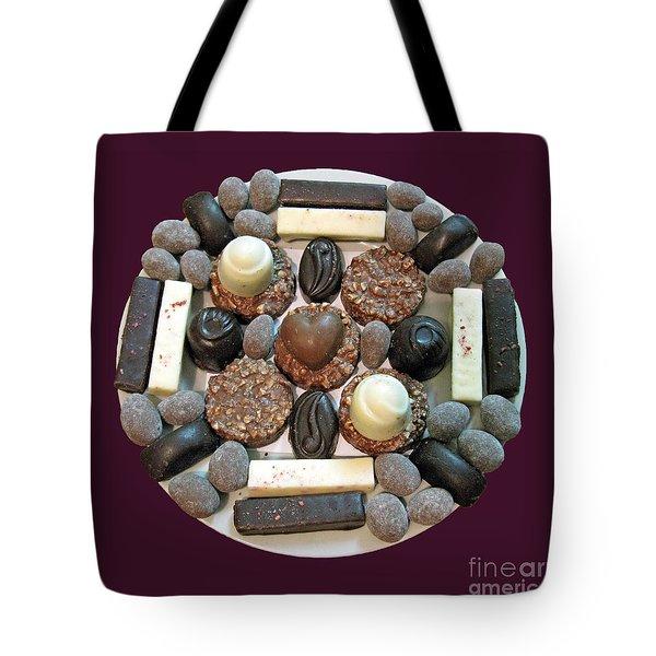 Chocolate Mandala Tote Bag by Ausra Huntington nee Paulauskaite