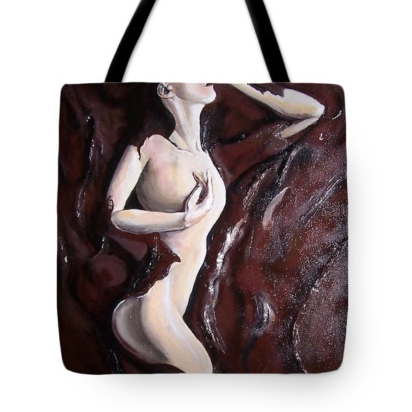 Chocolate Omega Tote Bag