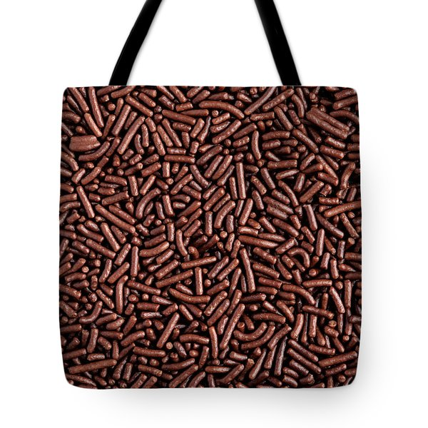 Chocolate Vermicelli Background Tote Bag