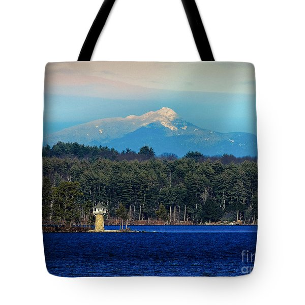 Chocorua And Spindle Point Tote Bag by Mim White