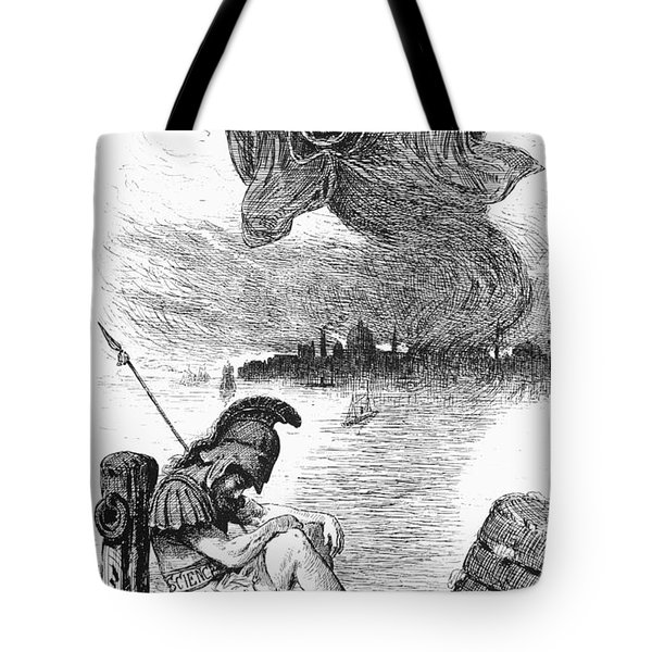 Cholera Cartoon, 1883 Tote Bag by Granger