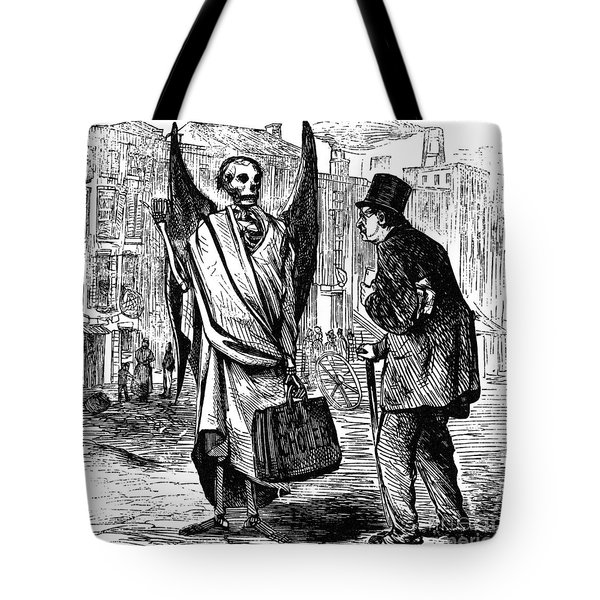 Cholera In Slums, 1866 Tote Bag by Granger