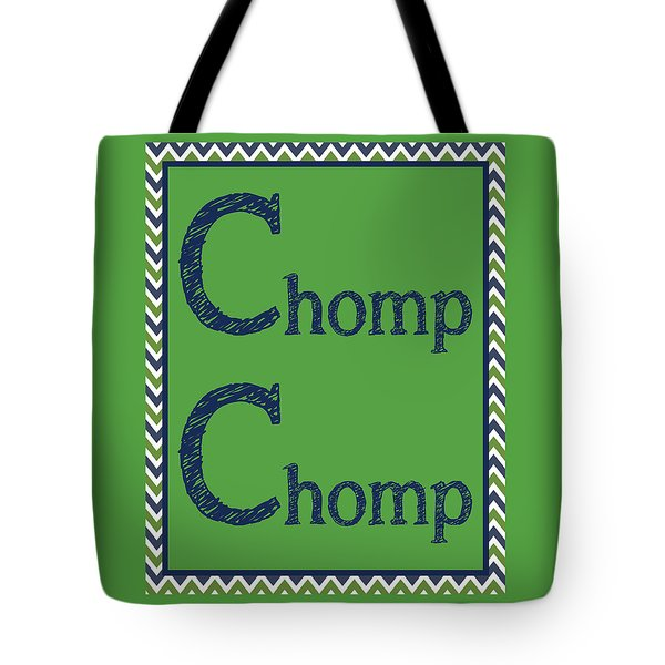 Tote Bag featuring the digital art Chomp Chomp by Jaime Friedman
