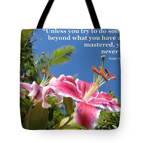Choose Your Quote Choose Your Picture 18 Tote Bag