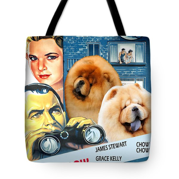 Chow Chow Art Canvas Print - Rear Window Movie Poster Tote Bag