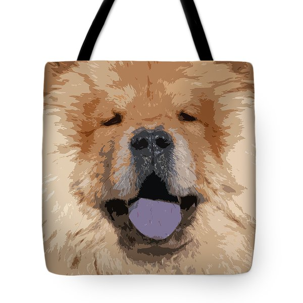 Chow Chow Tote Bag by Nancy Merkle