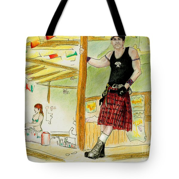 Tote Bag featuring the painting Chris At The Broken Spoke Saloon by Albert Puskaric