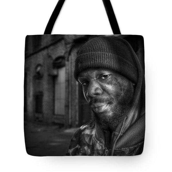 Chris Bw Tote Bag