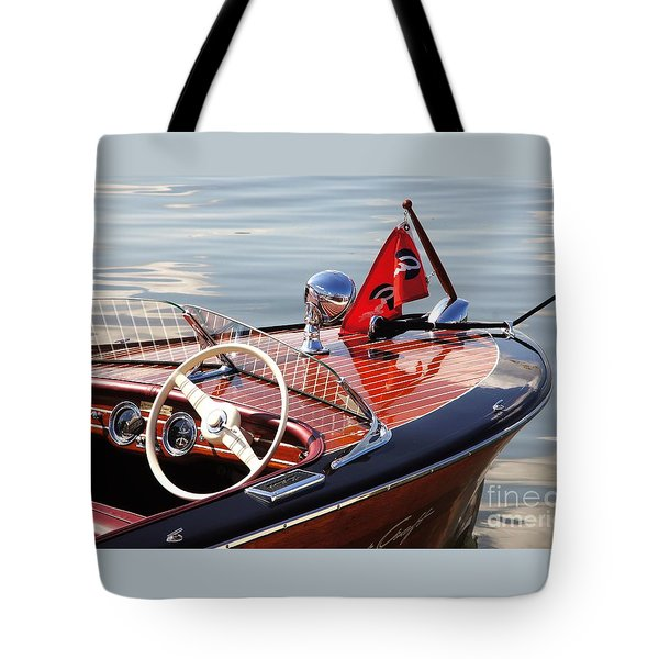 Chris Craft Deluxe Runabout Tote Bag