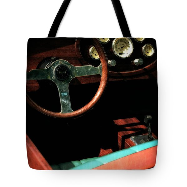 Chris Craft Interior With Gauges Tote Bag