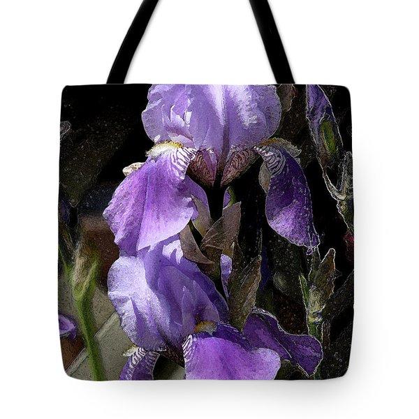 Chris' Garden - Iris 4 Tote Bag by Stuart Turnbull