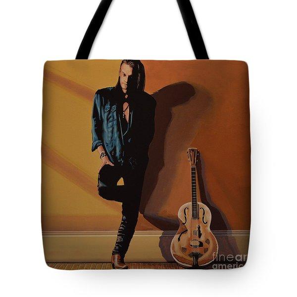 Chris Whitley Tote Bag by Paul Meijering