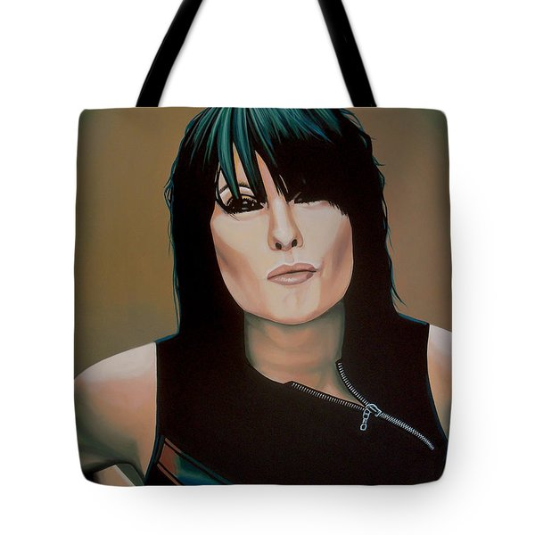 Chrissie Hynde Painting Tote Bag