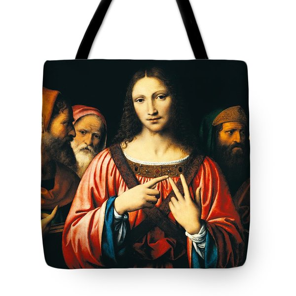 Christ Among The Doctors Tote Bag by Bernardino Luini