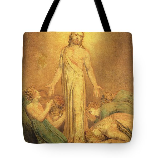 Christ Appearing To The Apostles After The Resurrection Tote Bag by William Blake