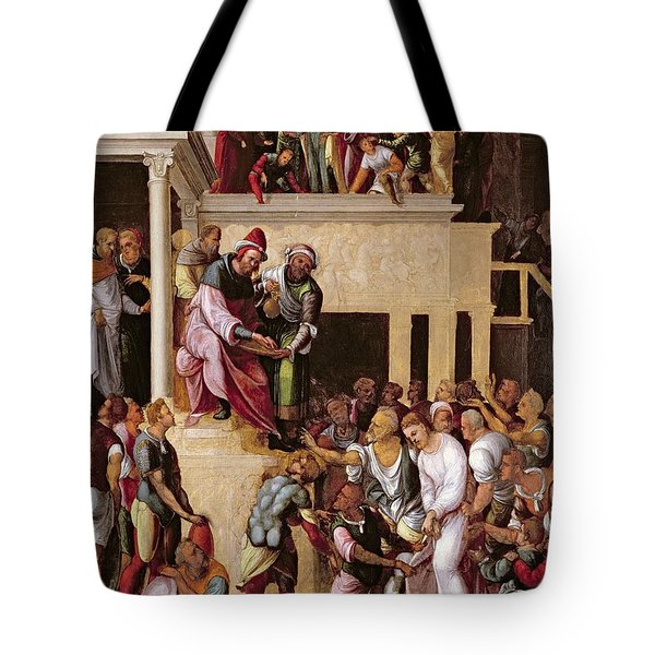 Christ Before Pilate, C.1530 Tote Bag by Lodovico Mazzolino