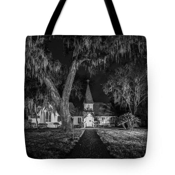Christ Church Bw Tote Bag by Debra and Dave Vanderlaan