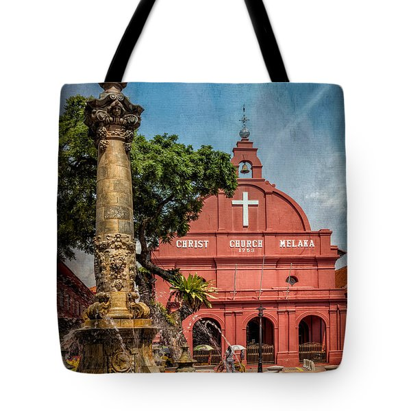 Christ Church Malacca Tote Bag by Adrian Evans
