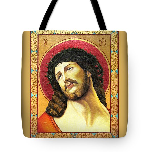 Christ Crowned With Thorns Tote Bag by Oksana Nabok