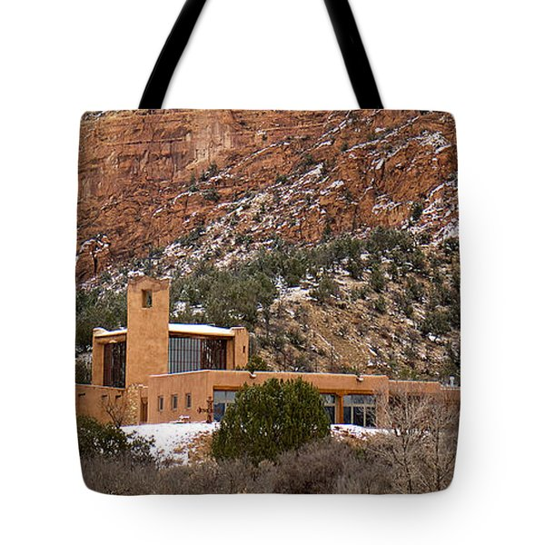 Christ In The Desert Monastery Tote Bag