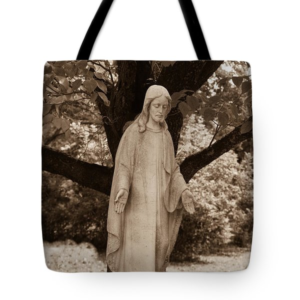 Christ In The Garden Tote Bag