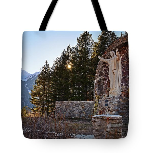 Christ Of The Mines Tote Bag