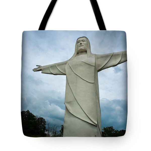 Christ Of The Ozarks Tote Bag