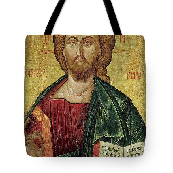 Christ Pantocrator Tote Bag by Bulgarian School