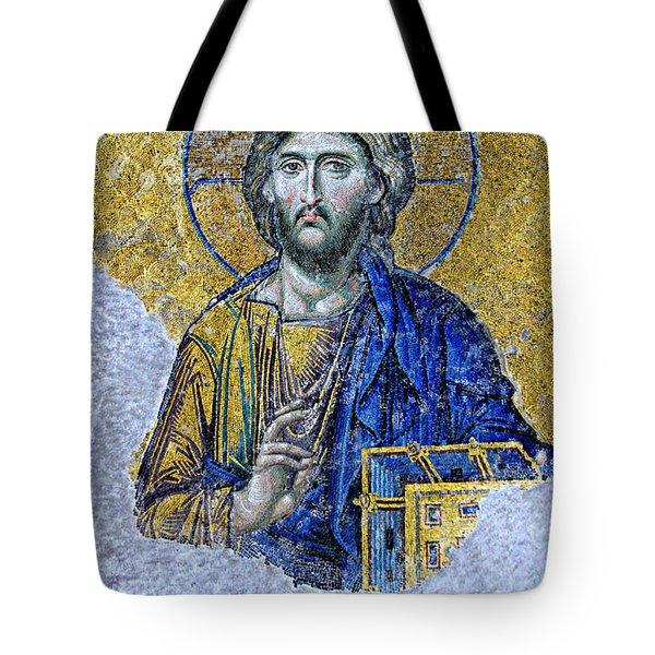 Christ Pantocrator II Tote Bag by Stephen Stookey