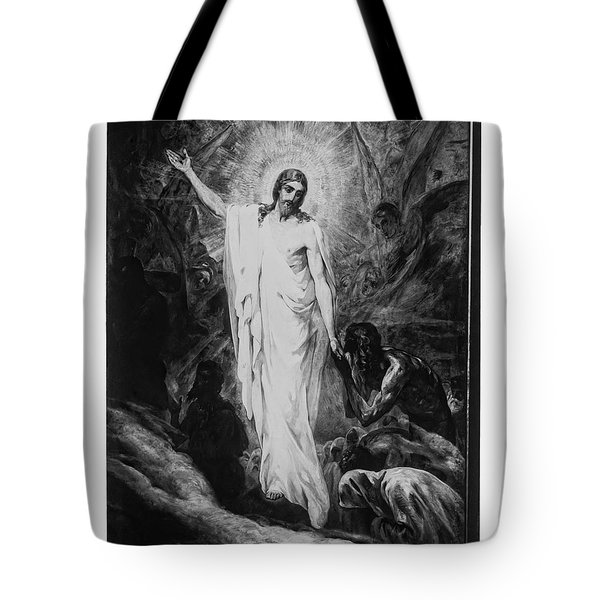 Christ Preaching To The Spirits In Prison C. 1910 Tote Bag by Daniel Hagerman