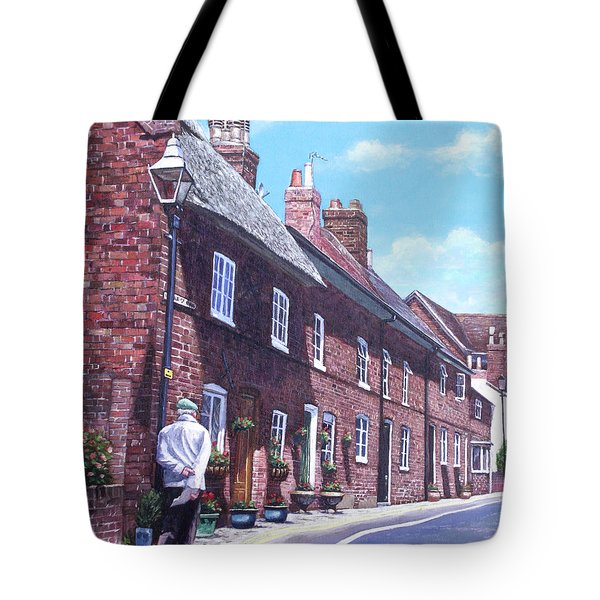 Christchurch Church Lane Tote Bag by Martin Davey