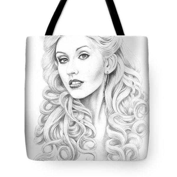 Christina Aguilera Tote Bag by Murphy Elliott