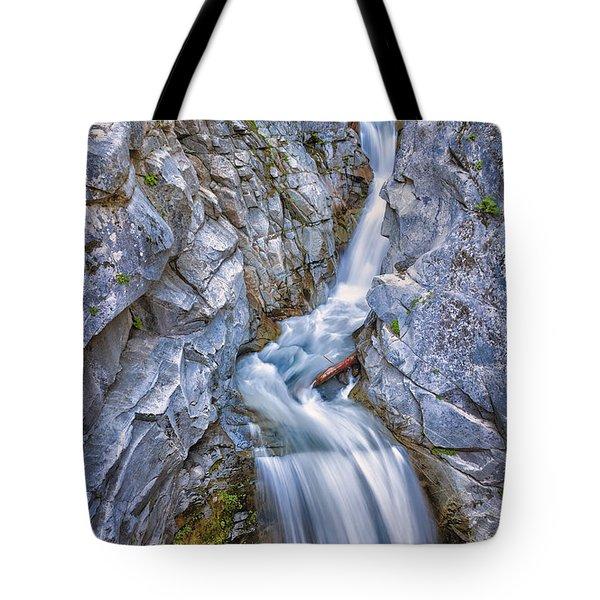 Christine Falls In Mount Rainier National Park Tote Bag