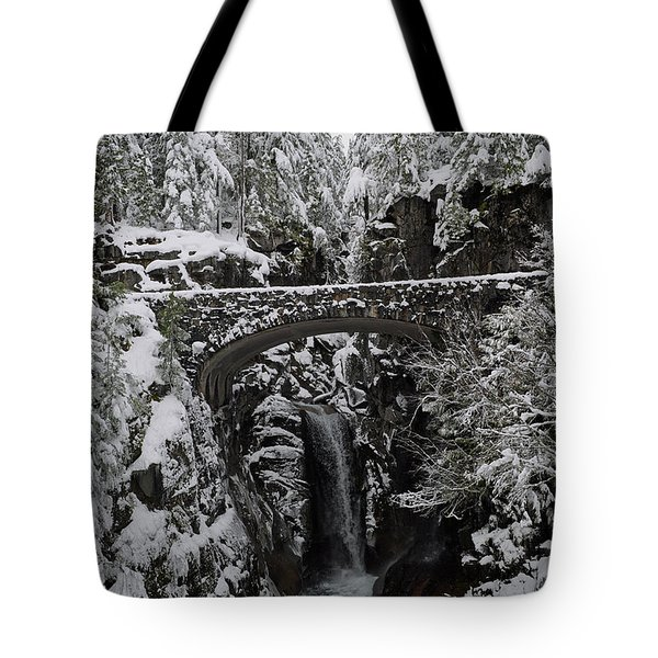 Tote Bag featuring the photograph Christine Falls In The Winter by Tikvah's Hope