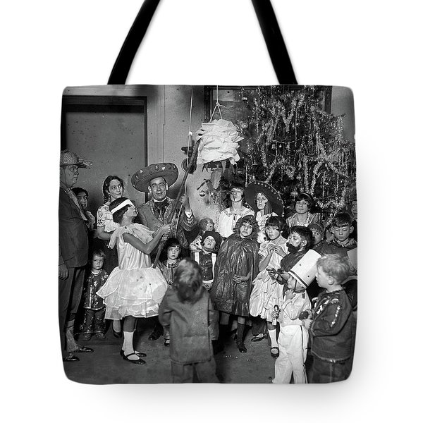 Tote Bag featuring the photograph Christmas, 1925 by Granger