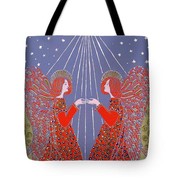 Christmas 77 Tote Bag by Gillian Lawson