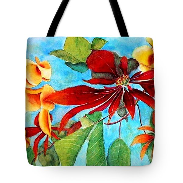 Tote Bag featuring the painting Christmas All Year Long by Debbie Lewis