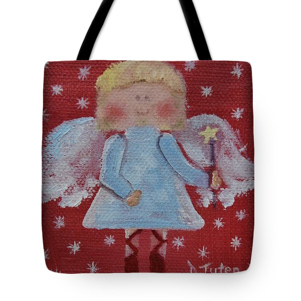Christmas Angel Tote Bag by Donna Tuten
