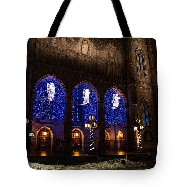 Christmas Angels - Notre-dame De Montreal Basilica Tote Bag by Georgia Mizuleva