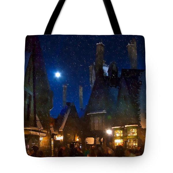 Christmas At Hogsmeade Blank Tote Bag