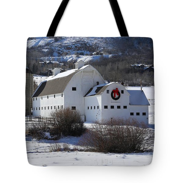 Christmas At The Farm Tote Bag