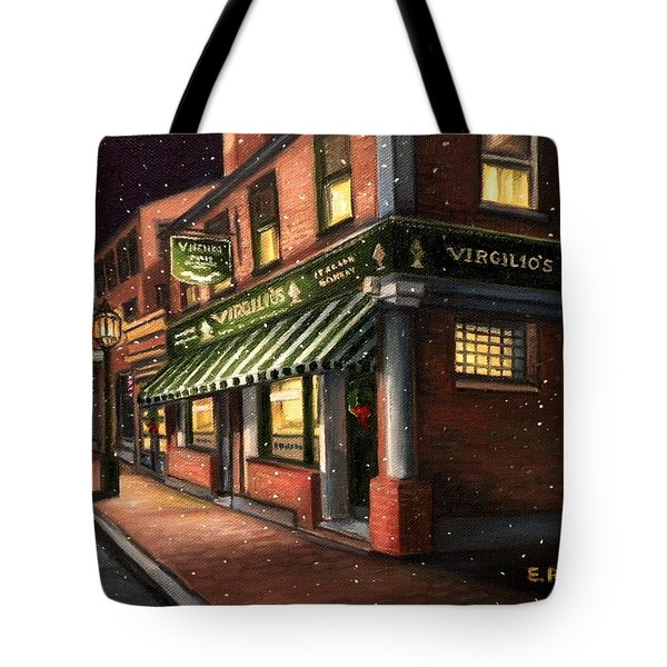 Christmas At Virgilios Tote Bag