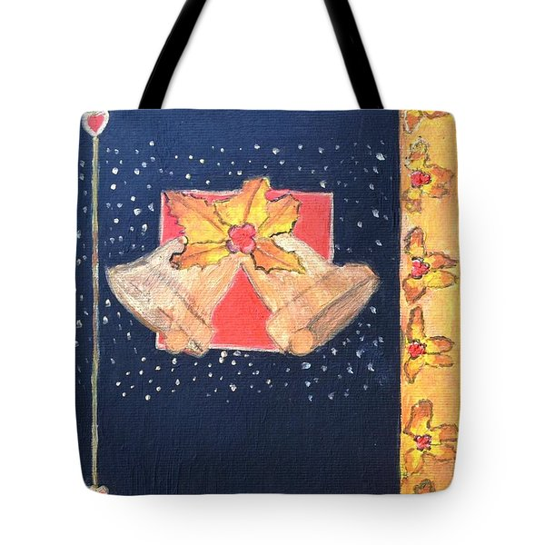 Tote Bag featuring the painting Christmas Bells by Magdalena Frohnsdorff