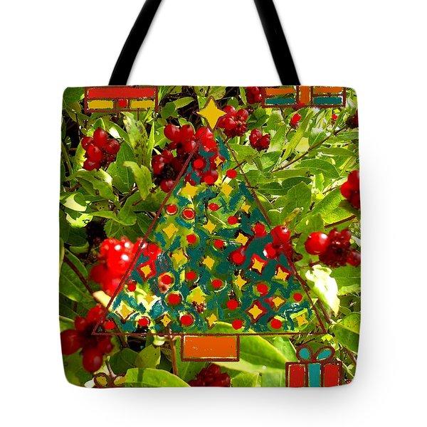 Christmas Berries Tote Bag by Patrick J Murphy