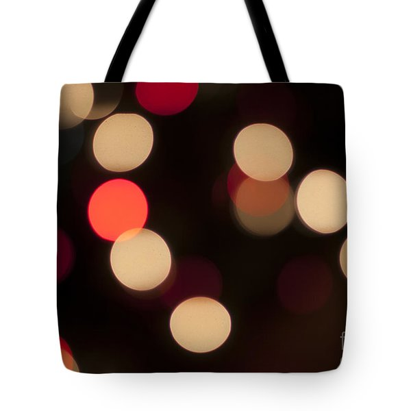Christmas Bokeh Lights Tote Bag