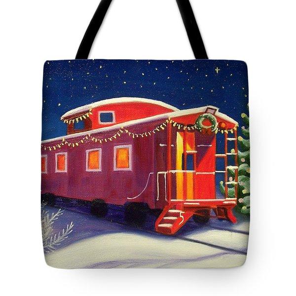 Christmas Caboose Tote Bag